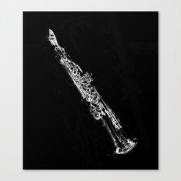 Soprano Sasophone Canvas Print