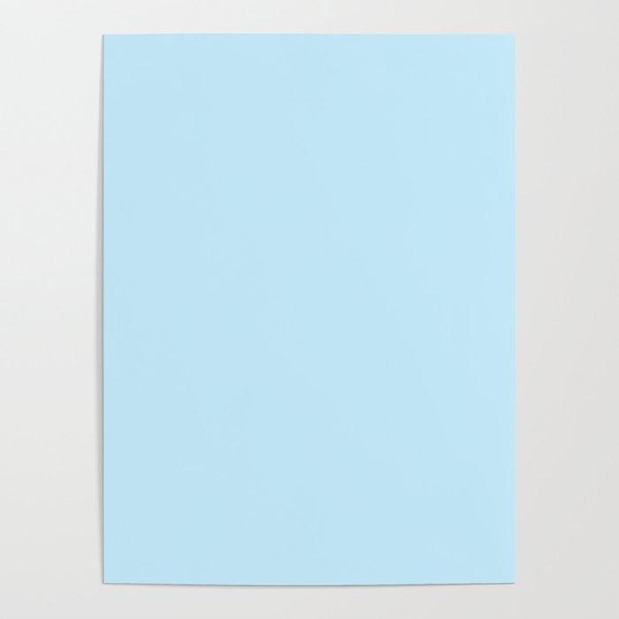 Pastel Blue Light Pale Powder Solid Color Poster