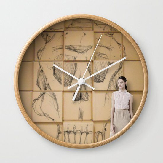 Space in Boxes with a model Wall Clock