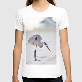 Blue Heron on the Beach T-shirt