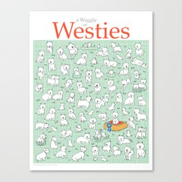 A Waggle of Westies Canvas Print