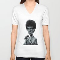 scarface V-neck T-shirts featuring Scarface by Nicolas Villeminot