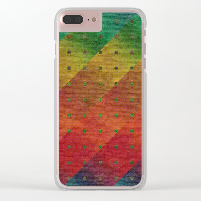 Color Transition Pattern Clear iPhone Case
