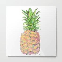 Brite Pineapple Metal Print