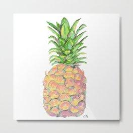 Brite Pineapple Metal Print