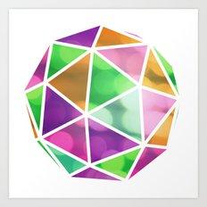 vivid dodecahedron Art Print
