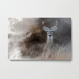 Buck In The Shadows Metal Print