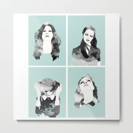 Minty Collection Metal Print
