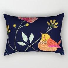 la vie est belle (navy) Rectangular Pillow