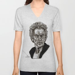 Peter Capaldi - Doctor Who - Drawing Unisex V-Neck