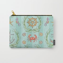 Sunken Damask Carry-All Pouch