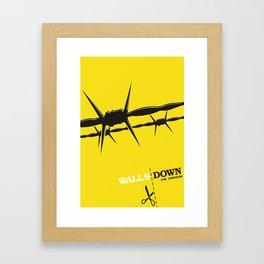 Walls Down for freedom Framed Art Print