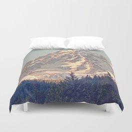 Mount Rainier Retro Duvet Cover
