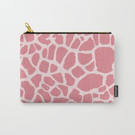 Chic Pink Giraffe Print Girly Animal Pattern Carry-All Pouch
