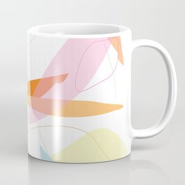 Abstract Pastel Minimal Shape Pattern Coffee Mug
