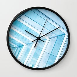Glass Structure Wall Clock