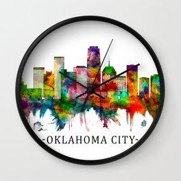 Oklahoma City Oklahoma Skyline Wall Clock