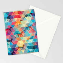 WEIMARANER AND TRIANGLES Stationery Cards