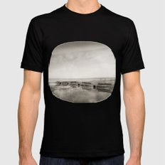 Lost time Mens Fitted Tee MEDIUM Black