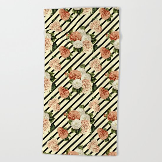 Chrysanthemum Rain Beach Towel