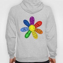 Seven wishes rainbow flower cartoon illustration Hoody