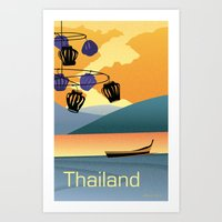 thailand Art Prints featuring Thailand by Shirong Gao