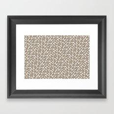 Control Your Game - Vintage Khaki Framed Art Print