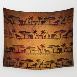 African Animal Pattern Wall Tapestry
