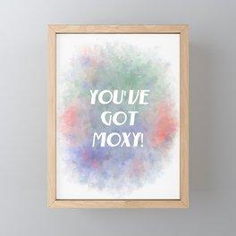 You've Got Moxy! (white, green, orange, violet) Framed Mini Art Print