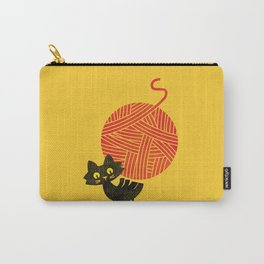 Fitz - Happiness (cat and yarn) Carry-All Pouch