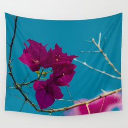 Pink and blue Wall Tapestry