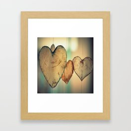 Hearts Framed Art Print