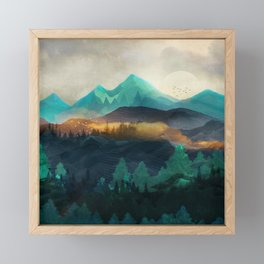 Green Wild Mountainside Framed Mini Art Print