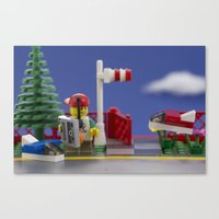 airplanes Canvas Prints featuring Airplanes by Pedro Nogueira