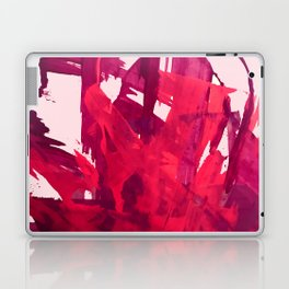Embers: a vibrant abstract piece in pinks Laptop & iPad Skin