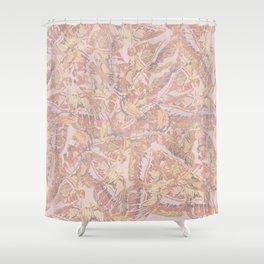Soft moth mandala Shower Curtain