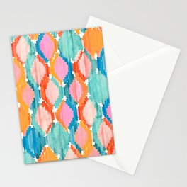 marmalade balinese ikat Stationery Cards