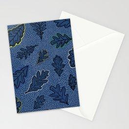 Leaves Picotage Large Scale Indigo Stationery Cards