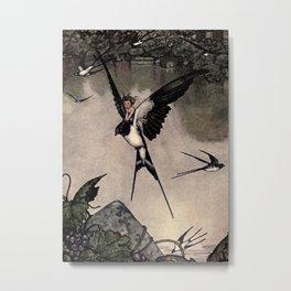"""Thumbelina"" Fairy Tale by W Heath Robinson Metal Print"