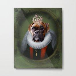 Queen Charlie - Boxer Dog Portrait Metal Print