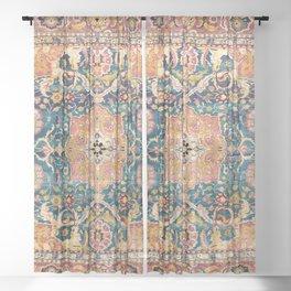 Amritsar Punjab North Indian Rug Print Sheer Curtain