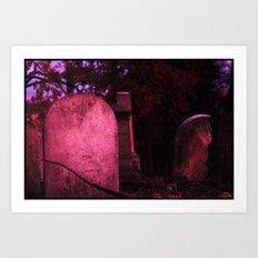 Sunset Stones (version 1) Art Print