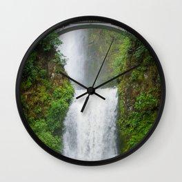 Multnomah Falls - Summer Oregon Waterfall Wall Clock