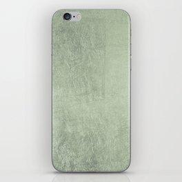 Modern elegant stylish blush green abstract pattern iPhone Skin