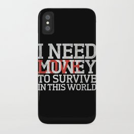 Money & Love iPhone Case