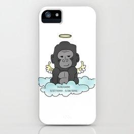 RIP Harambe iPhone Case