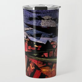 Futuristic Sci-Fi Landscape Digital Wallart 3D Mountains Road Travel Mug