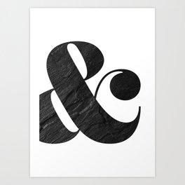graphite ampersand Art Print
