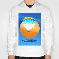hot air balloon Hoodies featuring Cold Hot Air Balloon by Annaleta Nichols