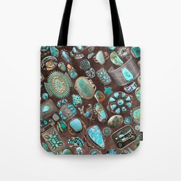 Vintage Navajo Turquoise stones Tote Bag